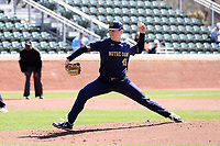 CHAPEL HILL, NC - MARCH 08: Will Mercer #43 of the University of Notre Dame throws a pitch during a game between Notre Dame and North Carolina at Boshamer Stadium on March 08, 2020 in Chapel Hill, North Carolina.