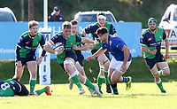 Saturday 10th October 2020 | Ballynahinch vs Queens<br /> <br /> Joe Dunleavy on the attack during the Energia Community Series clash between Ballynahinch and Queens at Ballymacarn Park, Ballynahinch, County Down, Northern Ireland. Photo by John Dickson / Dicksondigital