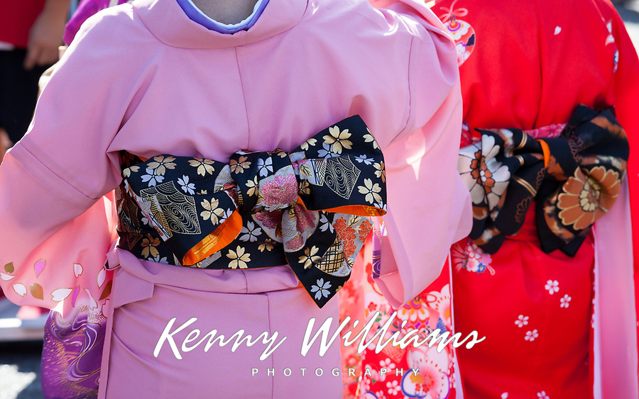 Kimono detail, Bon Odori Festival 2015, Seattle, Washington, USA.