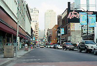 Pittsburgh: Forbes Avenue looking east from Market Square. All was to be demolished for shopping complex. Photo 2001.