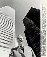 1980 FILE PHOTO - ARCHIVES -<br /> <br /> Sam Hughes, stepping down after five years as president of Chamber of Commerce: admits arm-twisting is as important as public utterances in influencing Ottawa.<br /> Bezant, Graham<br /> Picture, 1980<br /> <br /> 1980<br /> <br /> PHOTO : Graham Bezant - Toronto Star Archives - AQP