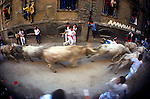 Running of the Bulls, Fiesta de San Fermin, Pamplona, Basque Region, Spain