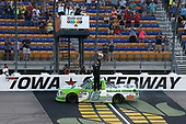 #16: Brett Moffitt, Hattori Racing Enterprises, Toyota Tundra Destiny Homes celebrates his win