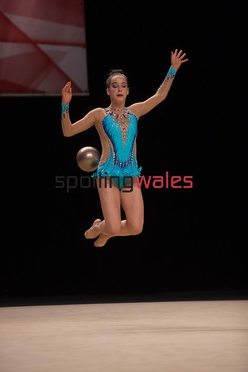 British Gymnastics Championships 2017<br /> Abigail Hanford<br /> Liverpool Echo Arena<br /> 30.07.17<br /> ©Steve Pope - Sportingwales