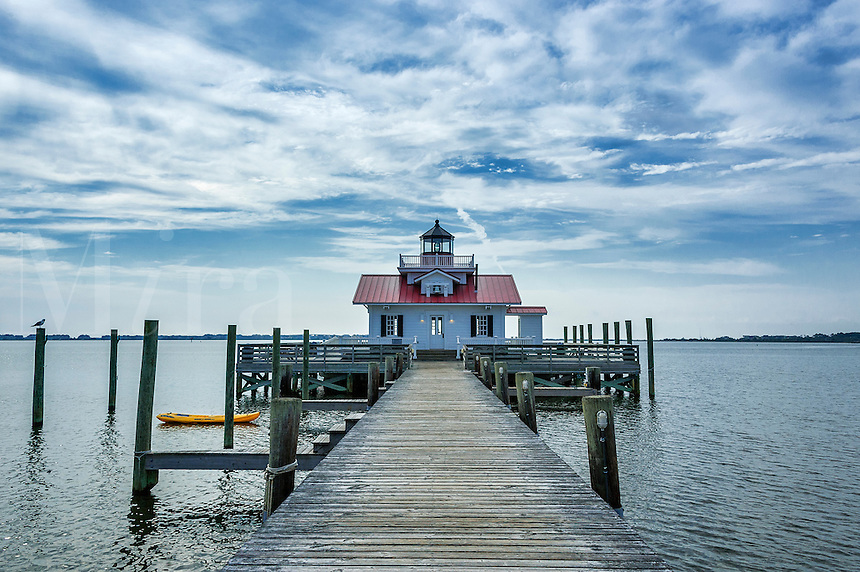 Roanoke Marshes Lighthouse, Roanoke Island, North Carolina, USA