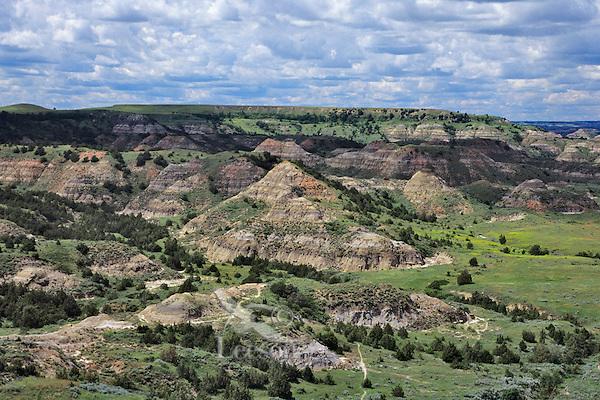 Painted Canyon, Theodore Roosevelt National Park (south unit), North Dakota, June.