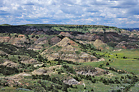 Painted Canyon, Theodore Roosevelt National Park (south unit), North Dakota, June.