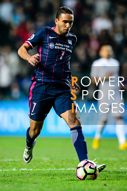 FC Kitchee Midfielder Fernando Augusto looks to bring the ball down during the AFC Champions League 2017 Preliminary Stage match between  Kitchee SC (HKG) vs Hanoi FC (VIE) at the Hong Kong Stadium on 25 January 2017 in Hong Kong, China. Photo by Marcio Rodrigo Machado / Power Sport Images