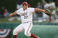 30 May 2008: Stanford Cardinal pitcher Michael Marshall, son of former major league baseball player Mike Marshall, during UC Davis's 4-2 win over Stanford at Klein Field at Sunken Diamond in Stanford, CA.
