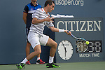 Albert Ramos-Vinolas (ESP) loses first two sets to Stanislas Wawrinka (SUI)  7-5, 6-4 at the US Open in Flushing, NY on September 1, 2015.