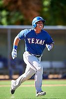 Texas Rangers Yohel Pozo (55) during an Instructional League game against the Kansas City Royals on October 4, 2016 at the Surprise Stadium Complex in Surprise, Arizona.  (Mike Janes/Four Seam Images)