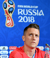 KAZAN - RUSIA, 23-06-2018: Piotr ZIELINSKI jugador de Polonia, durante rueda de prensa en Kazan Arena previo al encuentro del Grupo H  con Colombia como parte de la Copa Mundo FIFA 2018 Rusia. / Piotr ZIELINSKI player of Poland during press conference in Kazan Arena prior the group H match with Colombia as part of the 2018 FIFA World Cup Russia. Photo: VizzorImage / Julian Medina / Cont