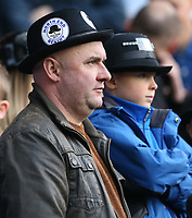 Preston North End fans look on as their team suffer a 4-1 defeat<br /> <br /> Photographer Stephen White/CameraSport<br /> <br /> The EFL Sky Bet Championship - West Bromwich Albion v Preston North End - Saturday 13th April 2019 - The Hawthorns - West Bromwich<br /> <br /> World Copyright © 2019 CameraSport. All rights reserved. 43 Linden Ave. Countesthorpe. Leicester. England. LE8 5PG - Tel: +44 (0) 116 277 4147 - admin@camerasport.com - www.camerasport.com