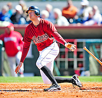 4 March 2010: Houston Astros right fielder Hunter Pence connects for a solo home run during the Astros' Grapefruit League Opening Day game against a Washington Nationals' split squad at Osceola County Stadium in Kissimmee, Florida. The Astros defeated the Nationals 15-5 in Spring Training action. Mandatory Credit: Ed Wolfstein Photo