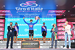 Ruben Guerreiro (POR) EF Pro Cycling retains the mountains Maglia Azzurra at the end of Stage 10 of the 103rd edition of the Giro d'Italia 2020, running 177km from Lanciano to Tortoreto, Italy. 13th October 2020.  <br /> Picture: LaPresse/Gian Mattia D'Alberto | Cyclefile<br /> <br /> All photos usage must carry mandatory copyright credit (© Cyclefile | LaPresse/Gian Mattia D'Alberto)