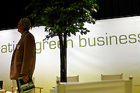 """Business exhibition at trade fair. Renewable sources will be helping to meet the world's demand for energy in the future. This development opens new markets and opportunities for business. Hoping to make """"green business"""" and """"green profit"""" over 60 exhibitors took part in the The North European Renewable Energy Convention (Nerec) , in Norway, presenting their solutions for renewable energy in the future. .© Fredrik Naumann/Felix Features"""