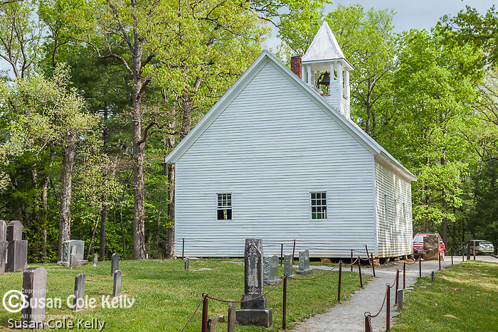 The Primitive Baptist Church in Cades Cove, Great Smoky Mountains National Park, TN, USA