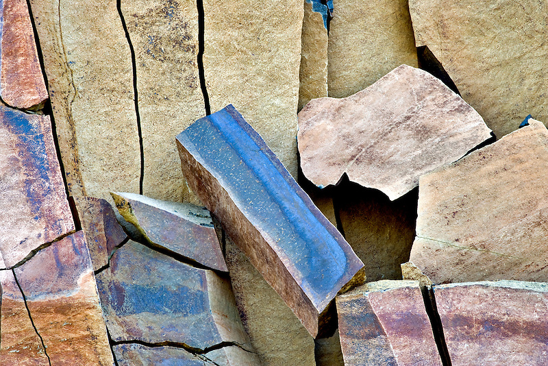 Fractured rock wall. Hell's Canyon National Recreational Area, Oregon