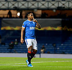 25.02.2021 Rangers v Royal Antwerp: Alfredo Morelos scores for Rangers and celebrates