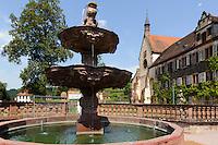 Barocker Abteigarten von Kloster Bronnbach bei Wertheim, Baden-Württemberg, Deutschland
