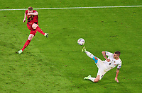 2nd July 2021; Allianz Arena, Munich, Germany; European Football Championships, Euro 2020 quarterfinals, Belgium versus Italy;   Kevin DE BRUYNE, Belgium shoots past Marco Verratti, ITA