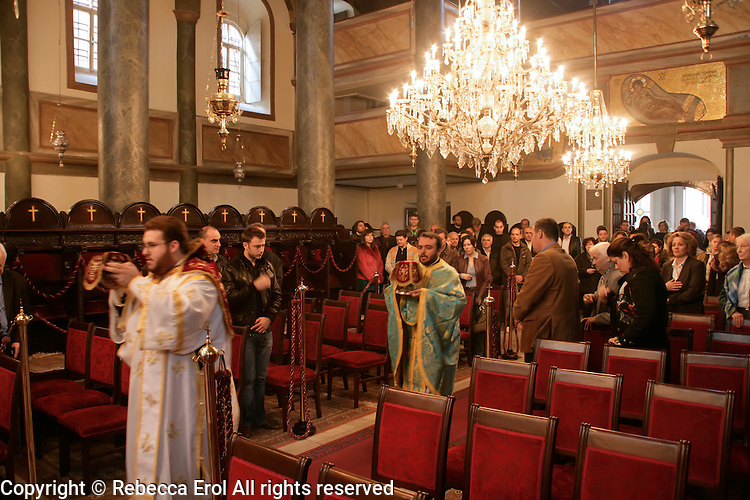Sunday mass at St George's church (Aya Yorga) at the Ecumenical Patriarchate in Istanbul, Turkey