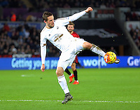 Gylfi Sigurdsson of Swansea during the Barclays Premier League match between Swansea City and West Bromwich Albion played at the Liberty Stadium, Swansea on December 26 2015