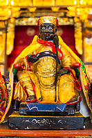 George Town, Penang, Malaysia.  Altar Deity in Cheah Kongsi, a Hokkien Clan Association Temple and Clan House.