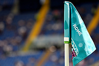 The corner flag with the name of Rome, host city of the match, is seen during the Uefa Euro 2020 Group A football match between Italy and Wales at stadio Olimpico in Rome (Italy), June 20th, 2021. Photo Andrea Staccioli / Insidefoto