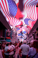 Ceiling light show at Fremont Street Experience Las Vegas Nevada