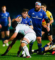 19th March 2021; RDS Arena, Dublin, Leinster, Ireland; Guinness Pro 14 Rugby, Leinster versus Ospreys; Rowan Osborne of Leinster is tackled by Morgan Morris of Ospreys