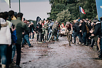 Jonas Rutsch (DEU/EF Education - Nippo) exiting the Carrefour de l'Arbre<br /> <br /> 118th Paris-Roubaix 2021 (1.UWT)<br /> One day race from Compiègne to Roubaix (FRA) (257.7km)<br /> <br /> ©kramon