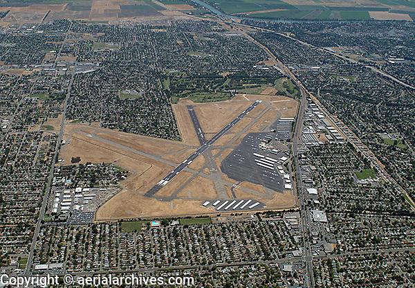 aerial photograph Sacramento Executive Airport, California