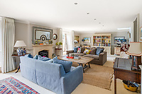 BNPS.co.uk (01202 558833)<br /> Pic: Mullucks/BNPS<br /> <br /> Pictured: Living room. <br /> <br /> Time for a change...<br /> <br /> A former granary with an impressive clock tower on top is on the market for £1.45m.<br /> <br /> The new owners of the aptly-named The Clockhouse will have a tall order adjusting this timepiece when the clocks go back at the end of October.<br /> <br /> The Grade II listed property has a 10ft central wooden clock tower which is believed to date back to the construction of the original granary building in the Georgian era.
