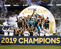 CHICAGO, IL - JULY 7: Mexico celebrates their win as the Concacaf Gold Cup Champion during a game between Mexico and USMNT at Soldier Field on July 7, 2019 in Chicago, Illinois.