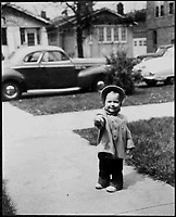 Childhood Photograph of Hillary Rodham Clinton Wearing a Coat and Bonnet, ca. 1950