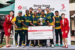 South Africa Team receives the Cup award during Day 2 of Hong Kong Cricket World Sixes 2017 Award Presentation at Kowloon Cricket Club on 29 October 2017, in Hong Kong, China. Photo by Vivek Prakash / Power Sport Images
