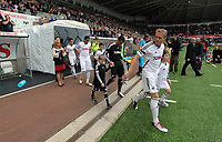 Pictured: Garry Monk of Swansea City. Saturday 17 September 2011<br /> Re: Premiership football Swansea City FC v West Bromwich Albion at the Liberty Stadium, south Wales.