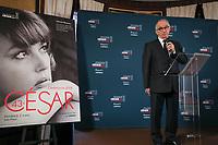 ALAIN TERZIAN - CONFERENCE DE PRESSE DES CESAR AU FOUQUET'S A PARIS, FRANCE, LE 31/01/2018.