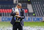 22.05.2021 Scottish Cup Final, St Johnstone v Hibs: Callum Davidson hugs the cup
