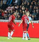 08.08.2019 FC Midtjylland v Rangers: Alfredo Morelos booked