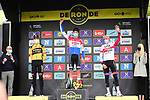 Dutch Champion Mathieu Van Der Poel (NED) Alpecin-Fenix wins the Tour of Flanders 2020 with Wout Van Aert (BEL) Team Jumbo-Visma in 2nd place and Alexander Kristoff (NOR) UAE Team Emirates 3rd, running 244km from Antwerp to Oudenaarde, Belgium. 18th October 2020.  <br /> Picture: Serge Waldbillig   Cyclefile<br /> <br /> All photos usage must carry mandatory copyright credit (© Cyclefile   Serge Waldbillig)
