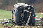 Pix: Shaun Flannery/shaunflanneryphotography.com...COPYRIGHT PICTURE>>SHAUN FLANNERY>01302-570814>>07778315553>>..28th February 2001.........Rail crash at Great Heck nr. Selby. Ten people killed after a Land Rover driven by Gary Hart crashed on to the East Coast Mainline de-railing a goods and high speed train.