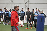 Cardiff & Vale College rugby training session with Wales coaches Chris Horsman and Geraint Lewis.<br /> House of Sport<br /> 18.09.15<br /> ©Steve Pope - SPORTINGWALES