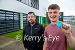 Ronan and Ciaran (15) Kavanagh, Beenoskee, Traleepictured after getting his vaccination in Tralee on Tuesday.