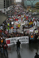 Montreal  (Quebec) CANADA - Nov 2011 File Photo -Students march against student tuition  fee's hike in Quebec province
