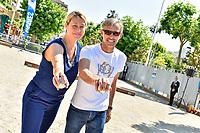 Paul BELMONDO, tournoi de pétanque des personnalités, pendant le soixante-dixième (70ème) Festival du Film à Cannes, Allées de la Liberté, Cannes, Sud de la France, samedi 27 mai 2017. Philippe FARJON / VISUAL Press Agency