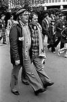 Scottish fans at England Scotland Football International Wembley Stadium, London May 1975