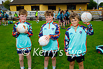 Enjoying their first day at the Kerry GAA Cúl Camps in Connelly Park on Monday morning, l to r: John Riordan, Seamus Keenan and Elliott Calleja.