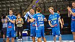 Freude nach Sieg beim TVB Stuttgart / Platz 3 beim BGV Handball Cup 2020 Finaltag: TVB Stuttgart vs. FRISCH AUF Goeppingen am 13.09.2020 in Stuttgart (PORSCHE Arena), Baden-Wuerttemberg, Deutschland<br /> <br /> Foto © PIX-Sportfotos *** Foto ist honorarpflichtig! *** Auf Anfrage in hoeherer Qualitaet/Aufloesung. Belegexemplar erbeten. Veroeffentlichung ausschliesslich fuer journalistisch-publizistische Zwecke. For editorial use only.